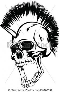 Mohawk clipart punk