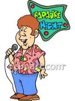 Singer clipart karaoke