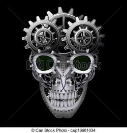 Ssckull clipart steampunk