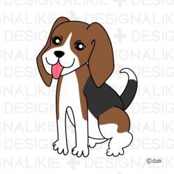 Beagle clipart cute