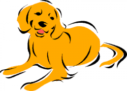 Labrador Retriever clipart therapy dog