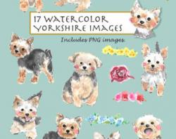 Yorkies clipart watercolor