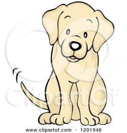 Labrador Retriever clipart cute dog