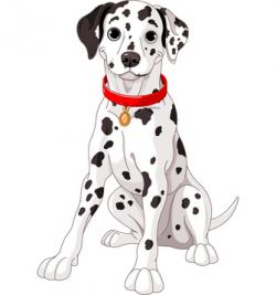 Dalmation clipart spotted