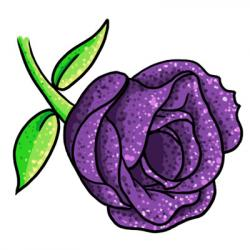 Dew clipart violet flower