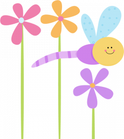 Purple Rose clipart dragonfly