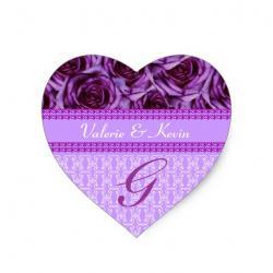 Purple Rose clipart formal letter