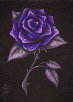 Purple Rose clipart gothic