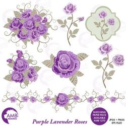 Purple Rose clipart lavender rose