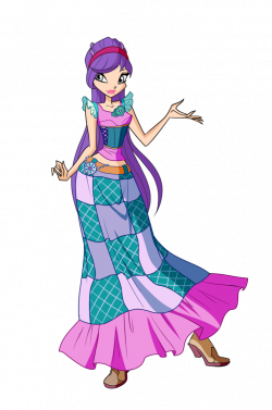 Purple Rose clipart winx club