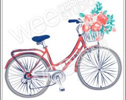 Pushbike clipart present