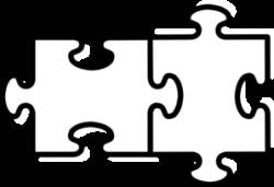 Puzzle clipart 2 piece
