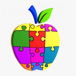 Puzzle clipart apple