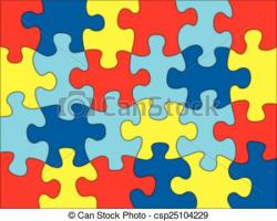 Puzzle clipart autism awareness