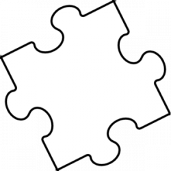 Puzzle clipart black and white
