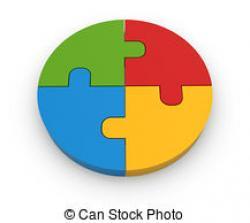 Puzzle clipart circle