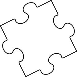 Puzzle clipart coloring page