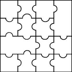 Puzzle clipart empty