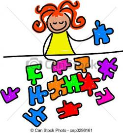 Puzzle clipart kind kid