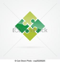 Puzzle clipart logo design