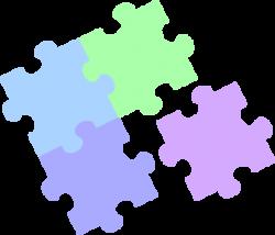 Puzzle clipart pastel