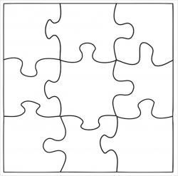 Puzzle clipart plain