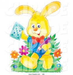 Puzzle clipart rabbit