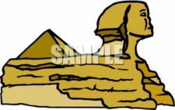 Sphynx clipart egyptian pyramid