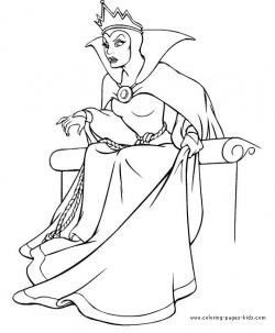 Queen clipart colouring page