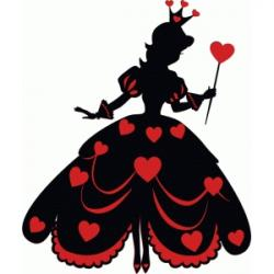 Queen clipart hearts silhouette