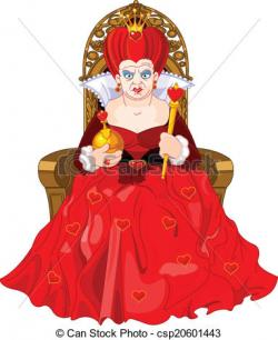 Queen clipart her throne