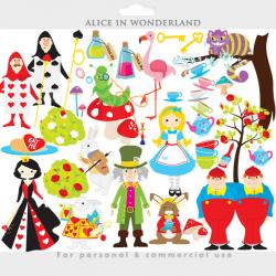 Vase-painting clipart alice in wonderland