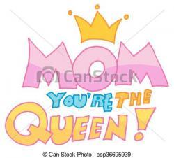 Queen clipart mom