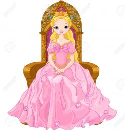 Queen clipart throne cartoon