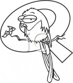 Quetzal  clipart black and white