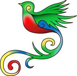 Quetzal  clipart cartoon