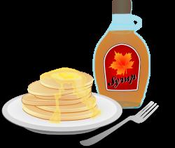 Pancake clipart pancake maple syrup