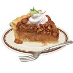 Dessert clipart pecan pie