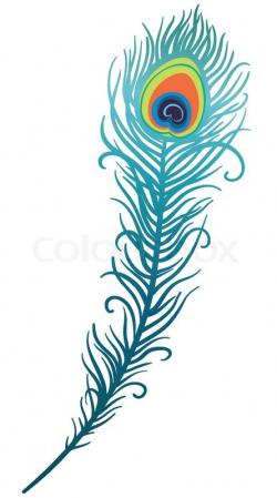 Single clipart peacock feather