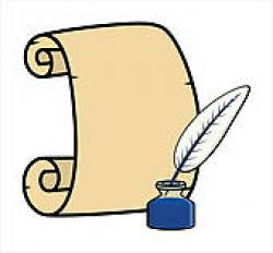 Quill clipart quill and scroll