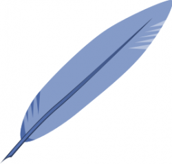 Quill clipart red feather