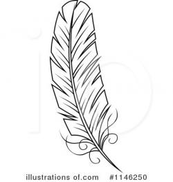 Feather clipart illustrated