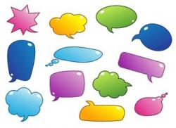 Colouful clipart speech bubble