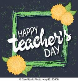 Quoth clipart teachers day poster