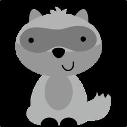 Cute clipart raccoon