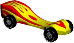 Racer clipart pinewood derby car