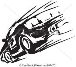 Drawn race car races