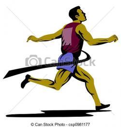 Race clipart 100 metre