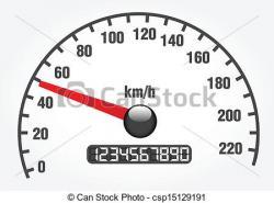 Speedometer clipart odometer