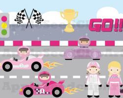 Race Car clipart invitation sample